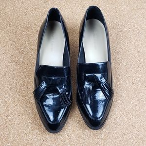 Marc Fisher Phylicia Heeled Black Patent Loafers